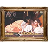 overstockArt Mother and child Framed Oil Painting by Lord Frederic Leighton