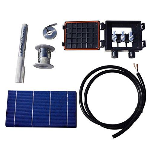 40pcs 3x6 Solar Cells Kit w/ Tabbing Bus Wire & J-box for DIY 80W Solar Panel