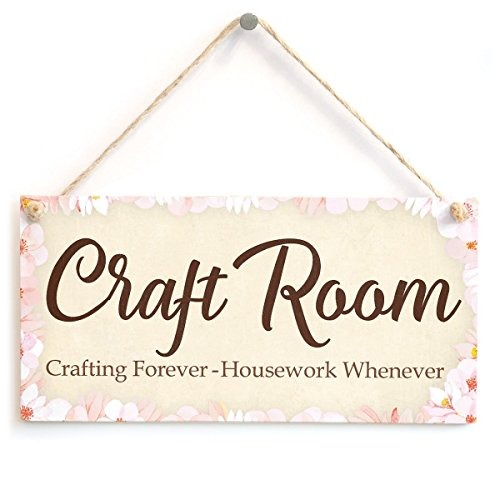 (Meijiafei Craft Room Crafting Forever - Housework Whenever - Super Cute Craft Room Door Sign 10