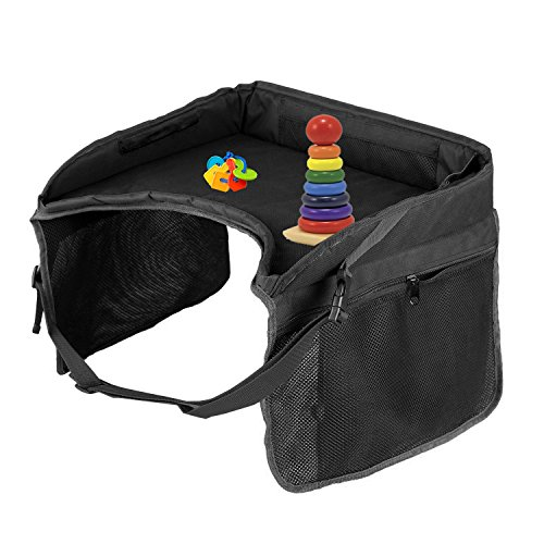 Travel Tray For Kids Black Large Car Seat Tray Snack
