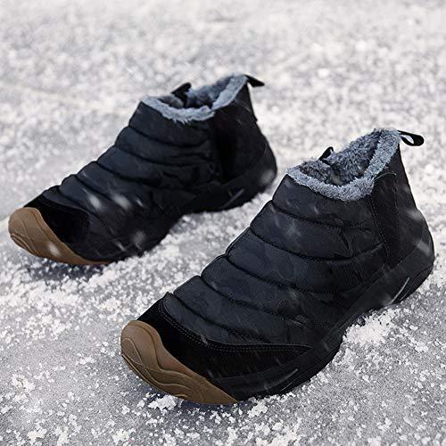 Scarponi Escursionismo Uomo da Neve happygo Scarpe da Neve Caldo da Impermeabili Stivali Nero Scarpe Donna ZYIYv