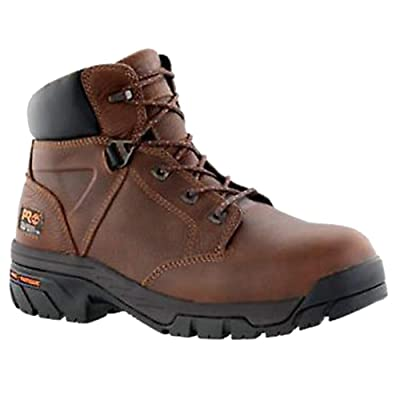 "Timberland PRO Men's Helix 6"" Alloy Safety Toe Waterproof Industrial Boot, Brown, 5.5 W US: Shoes"