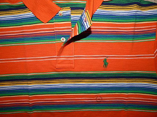 Polo Ralph Lauren Herren poloshirt, Custom Fit, Basic Mesh, Orange Desert Fire Mul