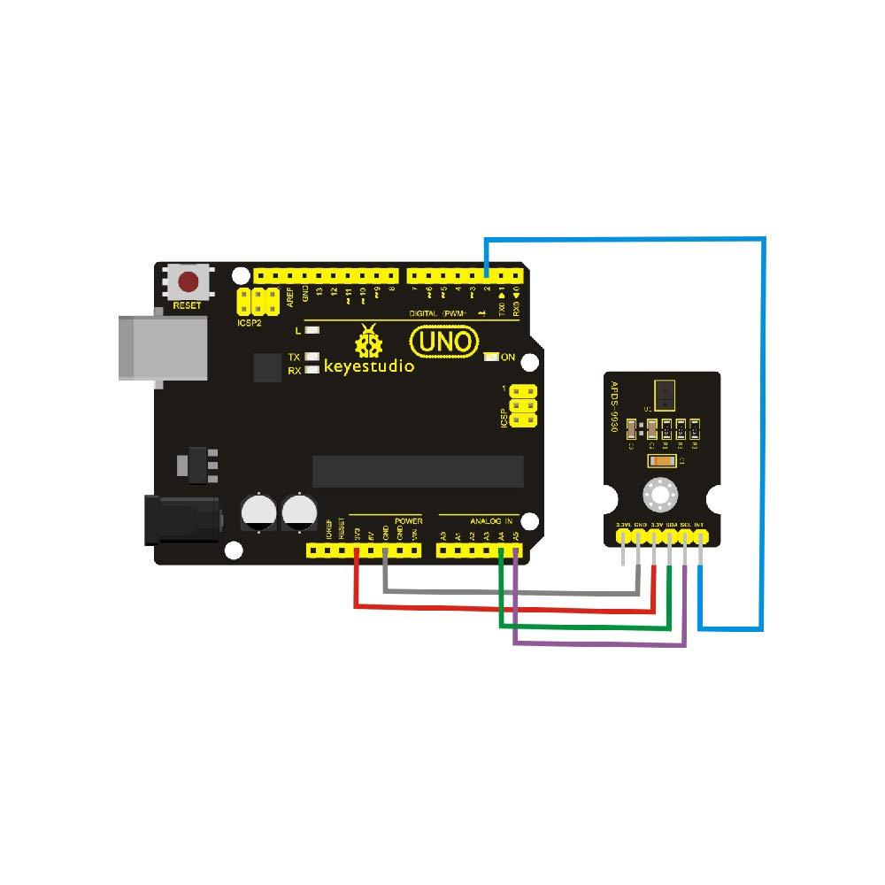 KEYESTUDIO APDS-9930 Attitude Sensor Module for Arduino KS0267