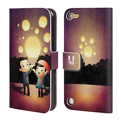 Head Case Designs Lanterne Nel Cielo La Luce Dellamore Cover a portafoglio in pelle per iPod Touch 5th Gen / 6th Gen