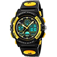 HIwatch Youth Watches Boys Girls Water-Resistant Sports Digital Wrist Watch for Teenager Students, Yellow