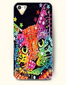 iPhone 5/5S Case, SevenArc Phone Cover Series for Apple iPhone 5 5S Case (DOESN'T FIT iPhone 5C)-- A Cute Cate --...