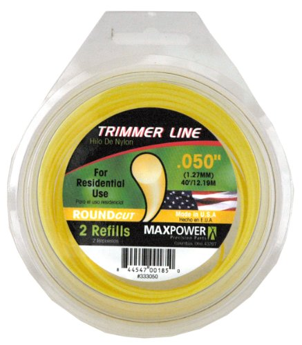 Maxpower 333050 Residential Grade Round .050-Inch Trimmer Line 40-Foot Length ()