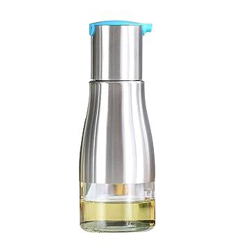 bestwoohome Salsa botella de dispensador de aceite, acero inoxidable Servicio de mesa para cocina: Amazon.es: Hogar