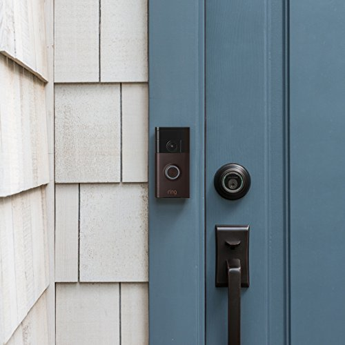 Ring Wi-Fi Enabled Video Doorbell in Venetian Bronze, Works with Alexa