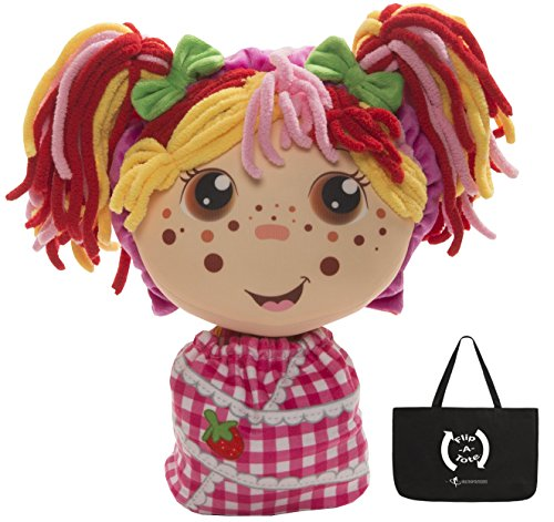 FlipZee Girls Zana w/ Exclusive FlipaTote, Sweet and Cuddly 2-in-1 Plush Doll with Carry Bag