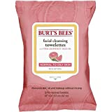 Facial Cleansing Wipes Natural - Burt's Bees Facial Cleansing Towelettes for Normal to Oily Skin, Pink Grapefruit, 30 Count