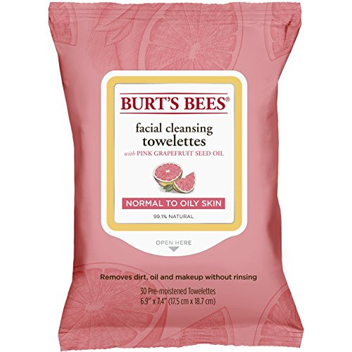 Price comparison product image Burt's Bees Sensitive Facial Cleansing Towelettes with Pink Grapefruit - 30 Count