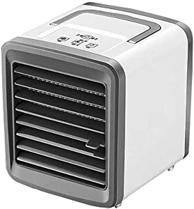 CGKUITER Portable Air Conditioner, Mini USB Space Cooler, Compact Evaporative Cooler Air Humidifier, 2 Wind Speed Desktop Air Conditioner Fan, Suitable for Home/Office