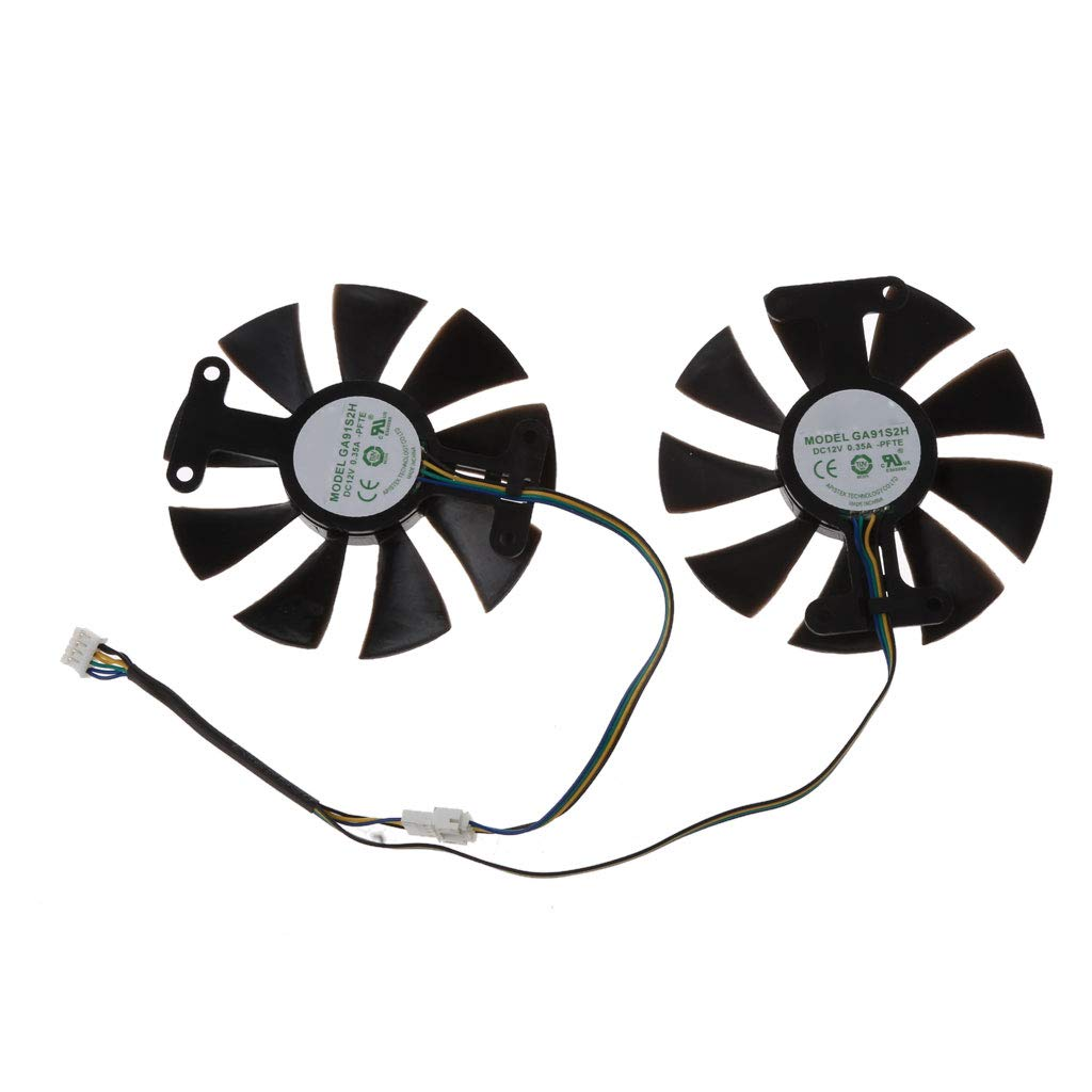Cuawan 85mm GA91S2H DC 12V 0.35A 4Pin Cooler Fan Replacement for Zotac GTX 1060 GTX950 GTX 1050Ti Graphics Card Cooling Fan