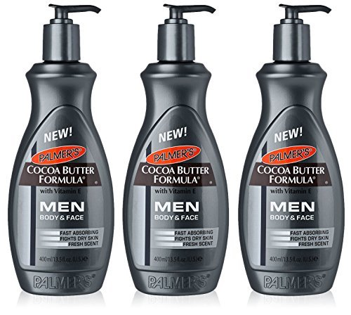 3x Palmers Cocoa Butter Formula Lotion Body & Face MEN Dry S