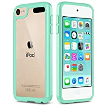 iPod Touch 5 Case , iPod 6 Case, ULAK [CLEAR SLIM] Soft TPU Bumper PC Back Hybrid Case Cover for iPod Touch 5 & 6 6th Gen, Mint Green