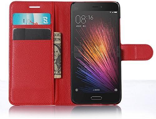 Xiaomi Mi 5 Funda, Cartera de piel sintética Premium teléfono ...