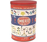 Tinkertoy Classic Retro Tub 1913 Packaging 100 Plastic Pieces