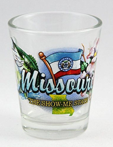 Missouri Show Me State Elements Shot Glass Show Shot Glass