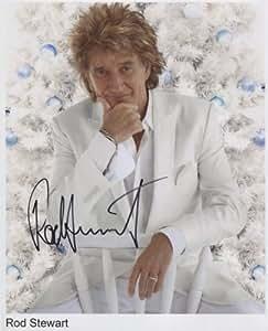 """Rod Stewart Firmado 8""""x10"""" fotos + certificado de autenticación 100% auténtica"""