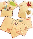 Set of 10 Mini Envelope Vintage Style Airmail Kraft Paper 4 different Designs (Castle Pattern), Office Central
