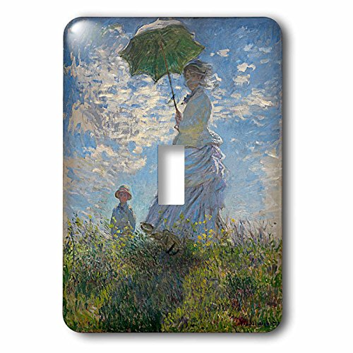 3dRose lsp_179210_1 Woman with a Parasol, Camille and Jean Monet, Claude Monet 1875, Pd-Us Light Switch ()