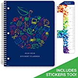 Dated Elementary Student Planner for Academic Year 2018-2019 (Block Style - 8.5