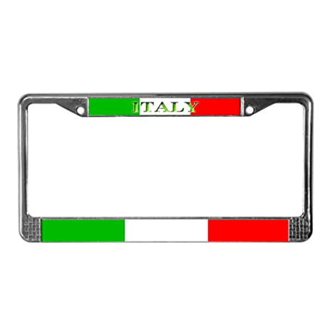 Amazon.com: CafePress - Italy Italian Blank Flag License Plate Frame ...
