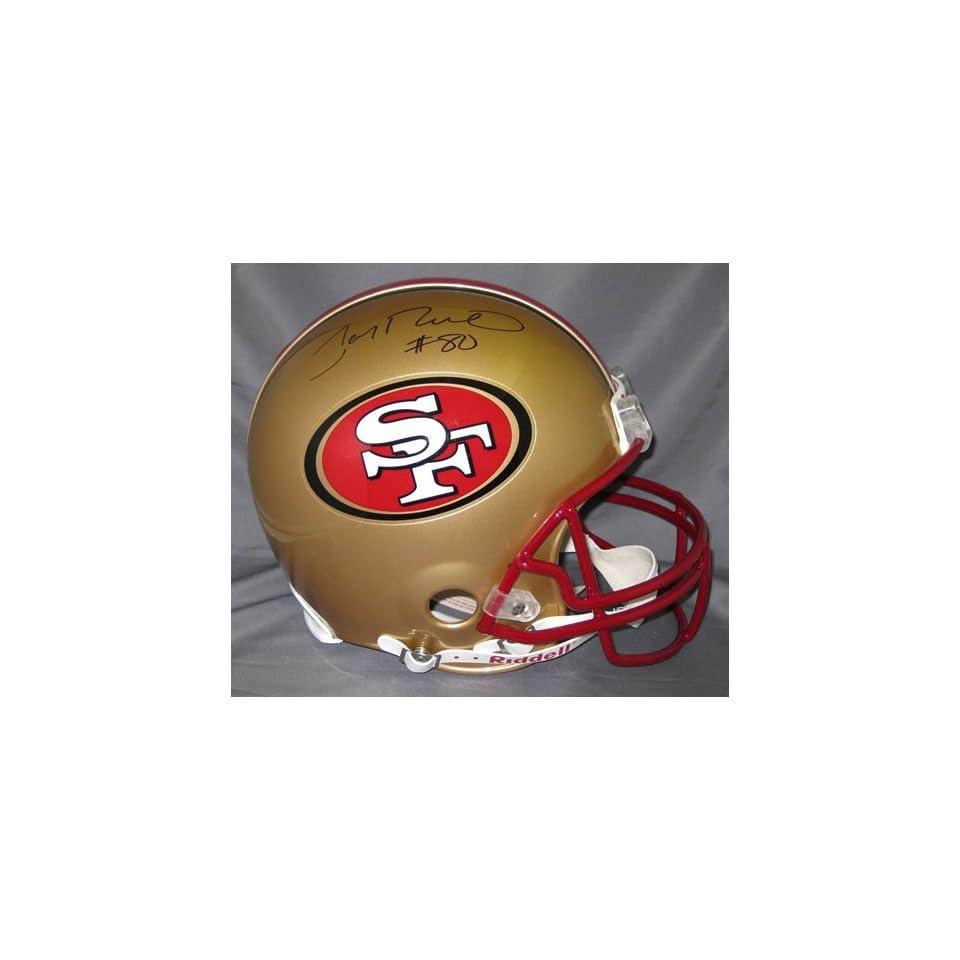 Jerry Rice Autographed Helmet   Fs Proline