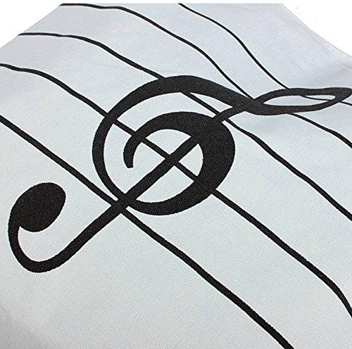 JXY Simboli di musica delle donne Stampa Canvas Shopping Borse a tracolla (Bianco)