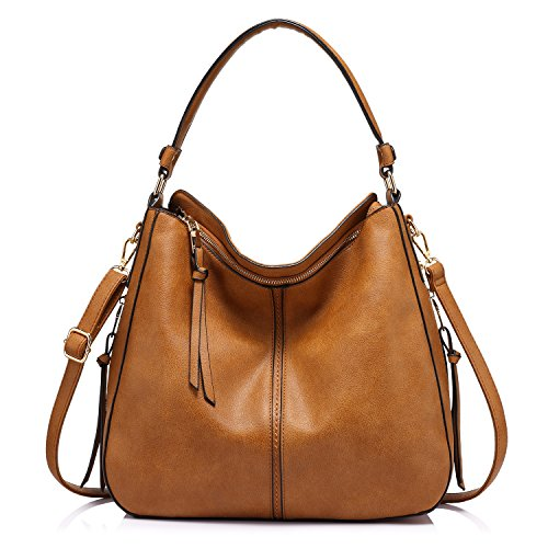 Realer Shoulder Bags for Women Large Ladies Crossbody Bag with Tassel,Large Yellow Brown,Medium (Best Designer Purse Brands)