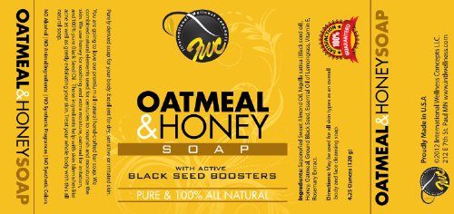 Oatmeal & Honey Soap with Active Black Seed Boosters (4.25 oz, 120g)