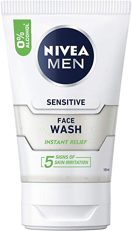 Nivea Men Sensitive - Limpiador facial para Hombre, 100 ml, pack ...