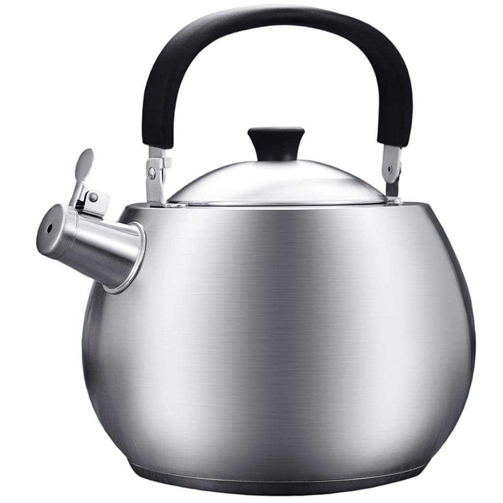 WHLONG Kettle Gas 304 Stainless Steel Gas Induction Cooker Kettle Thickening Sound 4.5L Home Burning Kettle