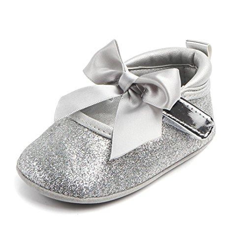 newborn silver dress shoes - 4