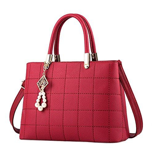 Bags Women Multifunction Handbag Fashion Clutch Burgundy Shoulder Handbags Shopping Bags Messenger Shoulder Leather Bags Bags BH1BfPqv