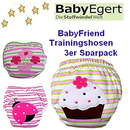 Couche-culotte anti-fuite fille 0 /à 24 mois M/ädchen//Pack 5 3 x Trainer im Sparpack BabyTrainer B/éb/é