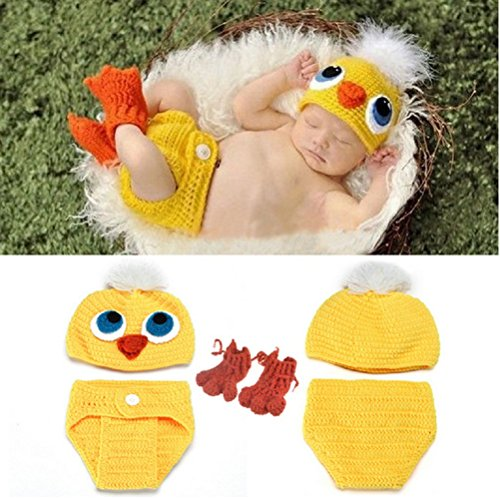 5db0de237af Oliviabeauty Newborn Baby Cute Knit Hat Costume Photography Prop Outfit Set