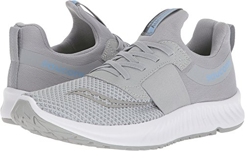 Saucony Women's Stretch N Go Breeze Running Shoe, Grey, 7.5 Medium US