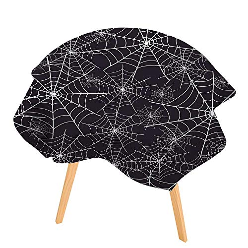 PINAFORE Round Tablecloth Spiderweb Halloween Texture Seamless Waterproof Wine Tablecloth Wedding Party Restaurant 71