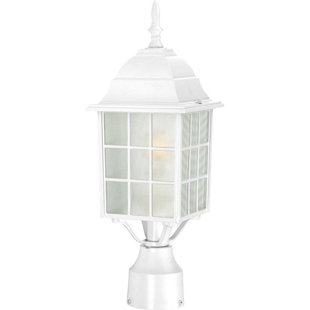 Nuvo Lighting 60//4908 Adams One Light Post Lantern 100 Watt A19 Max Frosted Glass Rustic Bronze Outdoor Fixture
