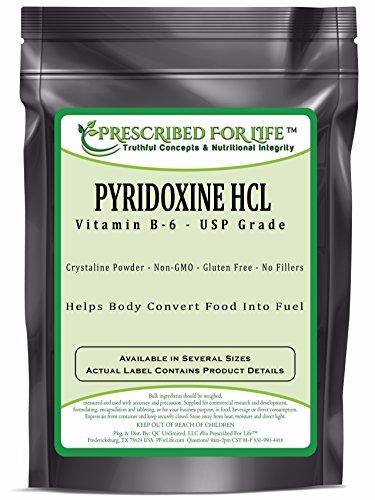 Pyridoxine HCL - USP Food Grade Vitamin B-6 Powder, 2.5 lb by Prescribed For Life