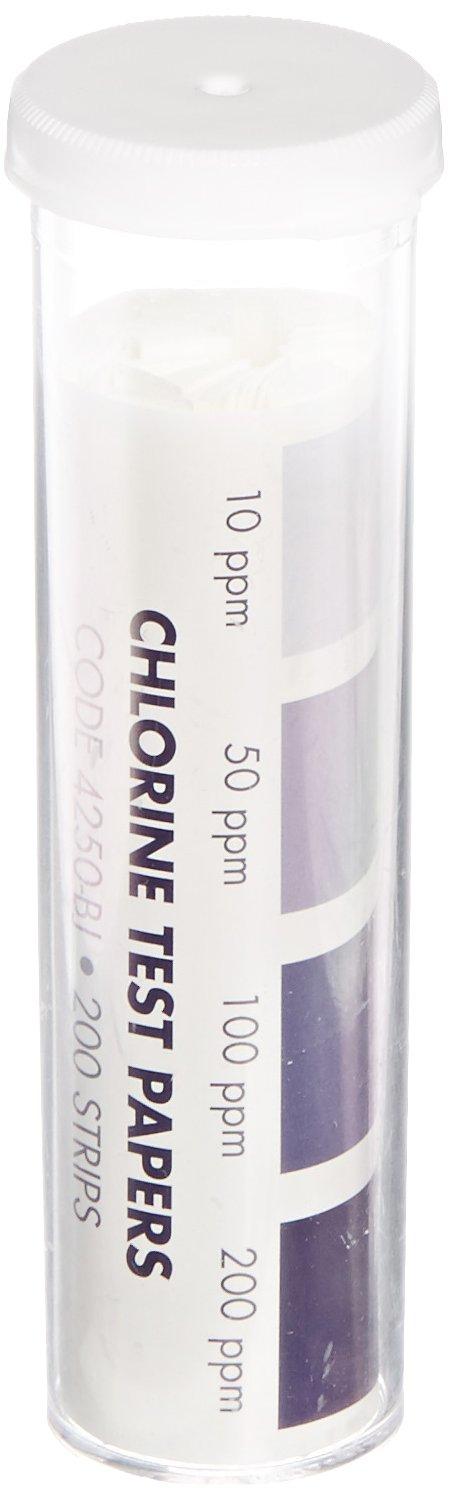 LaMotte Insta-Test 4250-BJ Chlorine Single Factor Test Strip, 10-200ppm Range (Pack of 200)