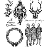 ShopForAllYou Stamping & Embossing Stampers Anonymous''Yuletide'' Rubber Cling Stamp Set 2018