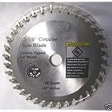 """3-1/8"""" x 5/64"""" x 3/8"""" 36T Carbide Saw Blade for TruePower Mini-Miter Saw #805"""