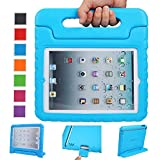 NEWSTYLE Apple iPad 2 3 4 Shockproof Case Light Weight Kids Case Super Protection Cover Handle Stand Case For Kids Children For Apple iPad 4, iPad 3 & iPad 2 2nd 3rd 4th Generation (Blue)
