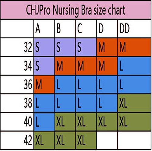CHJPro Sujetador de EnfermeríaSin CosturasBralettedel Sueño MaternidadSin Cables Con Extensores Gratis 2Pack-Pink
