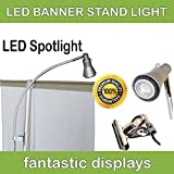 Fantastic Displays Banner Stand Light - LED Clip On for Retractable Roll Up Banner Displays & Trade Show Booths