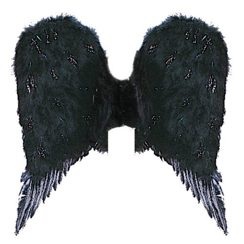 ANGEL WINGS FEATHR ADLT BLK ()